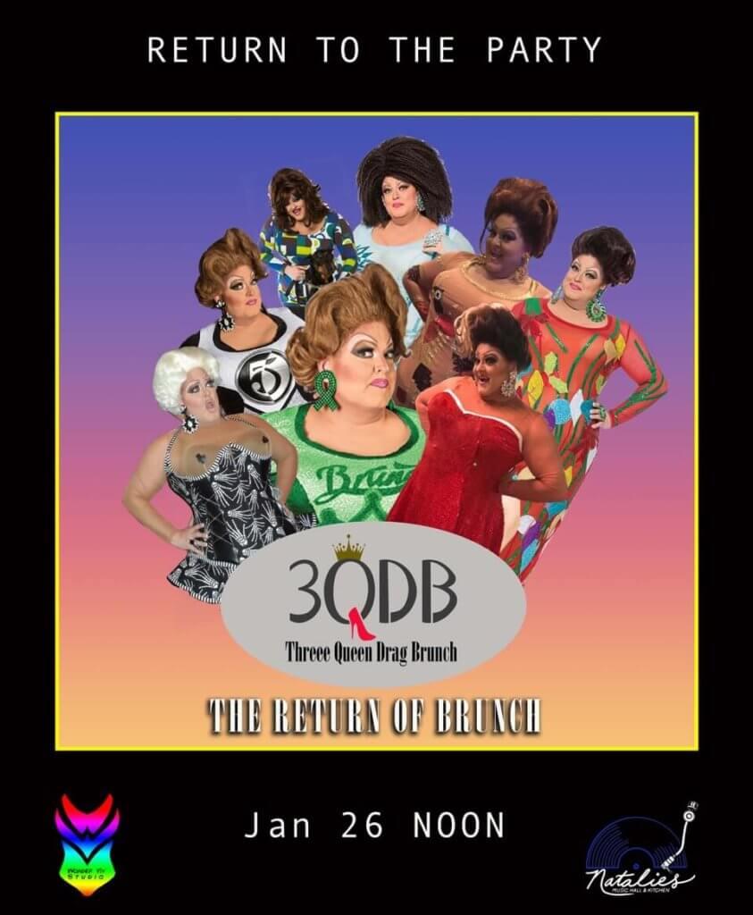 Three Drag Queen Brunch Jan 2020